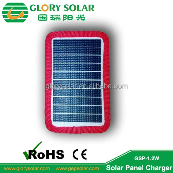 1.2W Alibaba Flexible Solar Panels bag Wholesale Cost China For Jacket Charging Lithium Battery