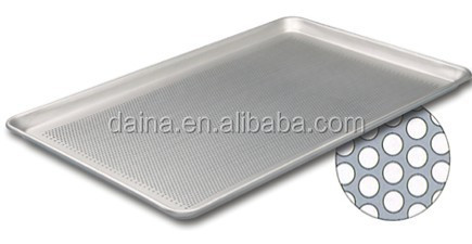 Alibaba Honesty supplier Ten years production experience aluminum perforated flat baking tray for cake , bread