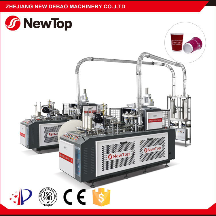 NewTop Exported to Korea Germany USA World Popular 60-65 pcs/min Speed Single PE Paper Cup Machine