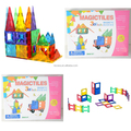 Clear magnetic 3D building blocks building stacking blocks toys