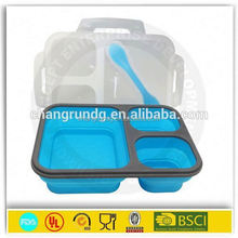 with tableware transparent silicon kids lunch box