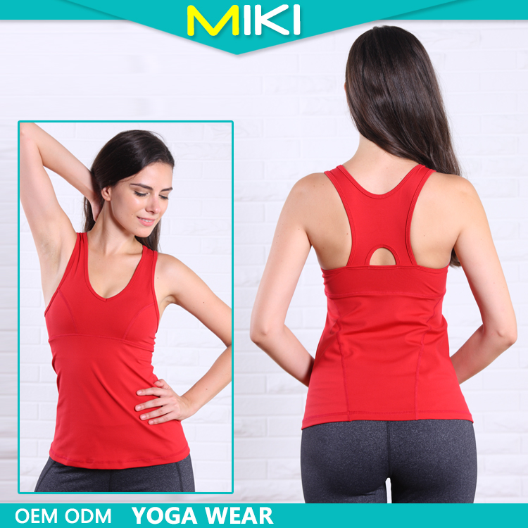 Vogue style sports tank tops womens yoga and fitness wear