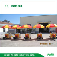 factory price hotdog food cart/hotdog station/hotdog hand push kiosk