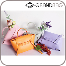 2016 Guangzhou New Fashion Genuine Nappa Leather PU leather Belt Bags Shoulder Bag Handbag for woman