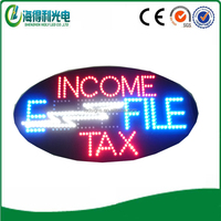 China hot selling income tax office led open sign