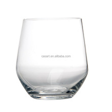 Casart Wholesale 2 size clear glass tumbler stemless wine glass