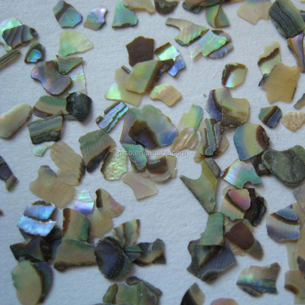 crushed paua abalone shell chip flake