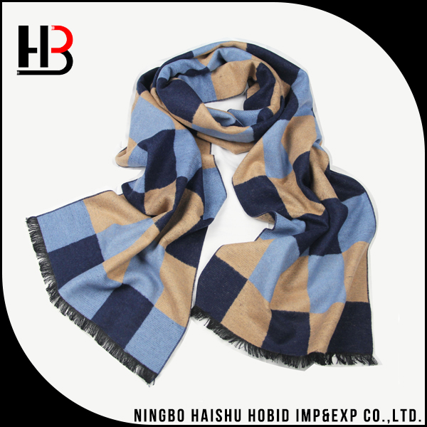 China Hangzhou men 100 silk brushed scarf