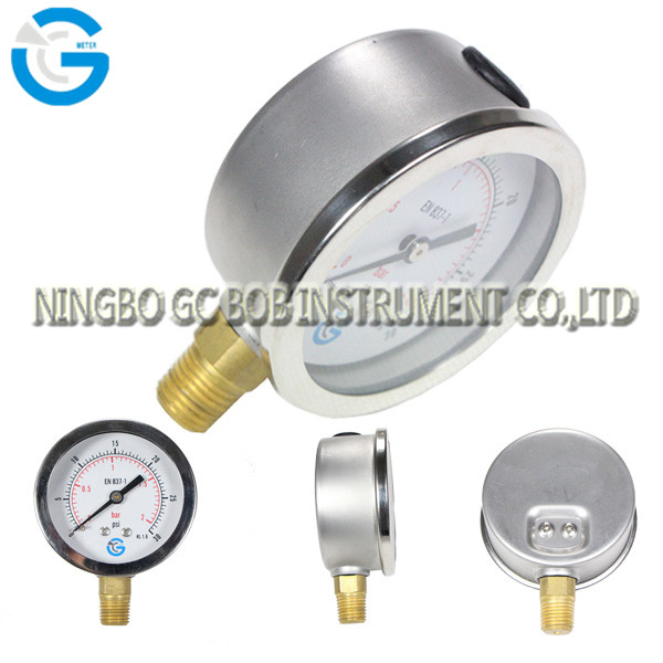High quality stainless steel brass internal lpg manometers