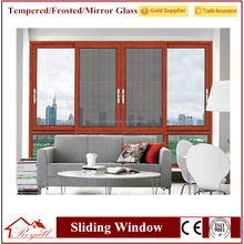 China manufacturer residential windows three panel design aluminum high quality tilt&amp