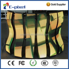 p3 p4 p6 p10 indoor advertisement use folding flexible led screen for facade//led scrolling display screen