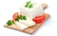 White cow and sheep cheese from Bulgaria