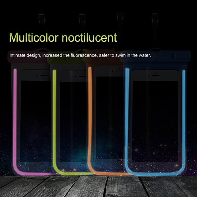 Luminous colorful waterproof case for samsung galaxy note 8
