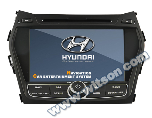 WITSON HYUNDAI Santa Fe 7 inch car dvd player gps bluetooth PIP RDS USB steering wheel control
