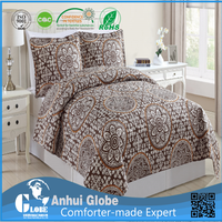 American pattern high quality polyester bedding linen quilt fabric