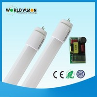 Plastic /intergrated 0.6m.0.9m.1.2m ce and rohs approved t8 led tube 3year warranty
