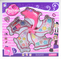 Petite Girls Dolphin Shaped Cosmetics Play Set - Fashion Makeup Kit for Kids