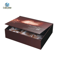 Custom fancy flat folding cosmetic packaging gift box for olive oil with cheap price