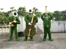 anti uv and fire artificial topiary grass sculpture for garden ornament