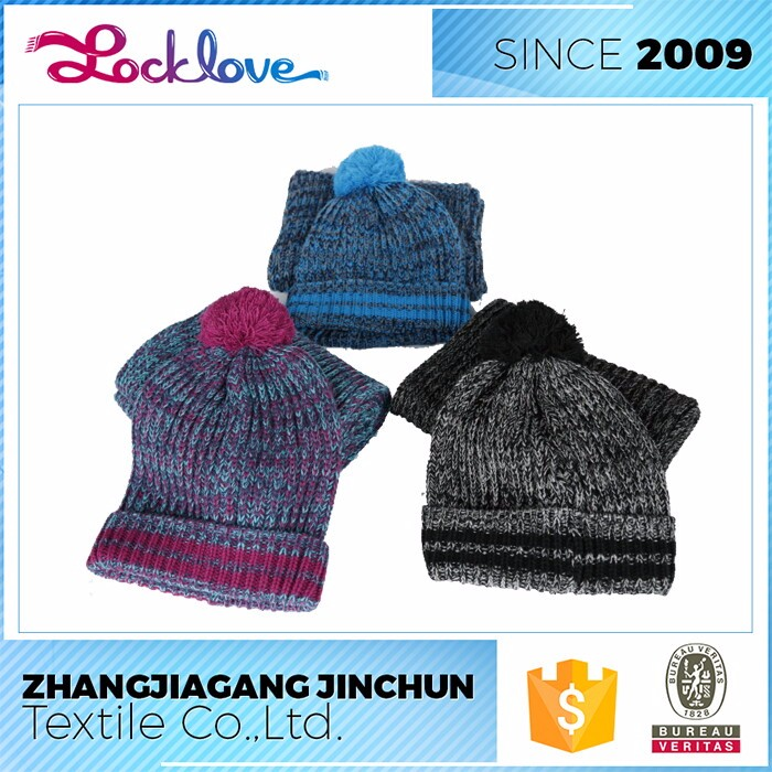 Strict Quality Check Factory Unique Design All In One Knitted Scarf Hat