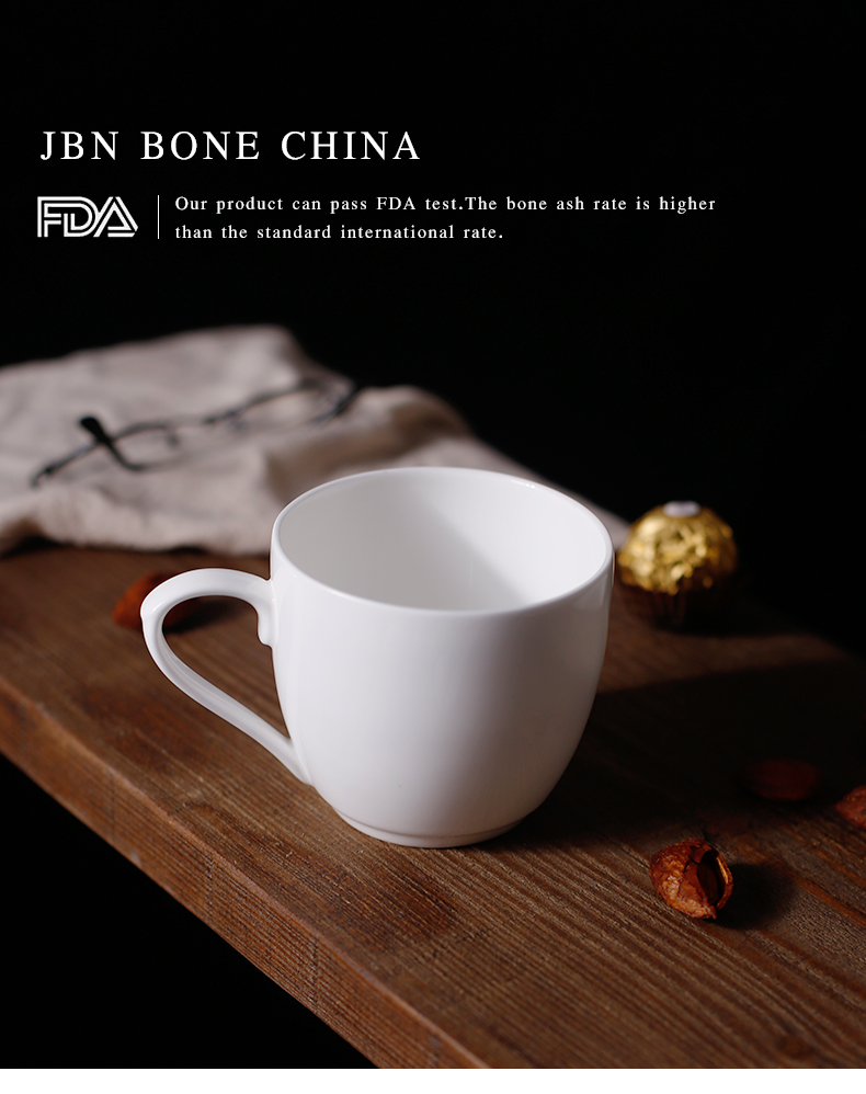 Custom bone china coffee cup 8 oz porcelain mug with customized logo