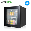 LVNI 2017 46L glass door display mini bar fridge/ fridge compressor hotel minibar