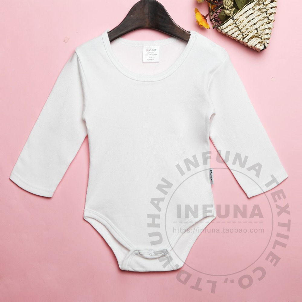 Cotton baby romper bodysuit. long sleeve, 5 color, no minimum. high quality and law price