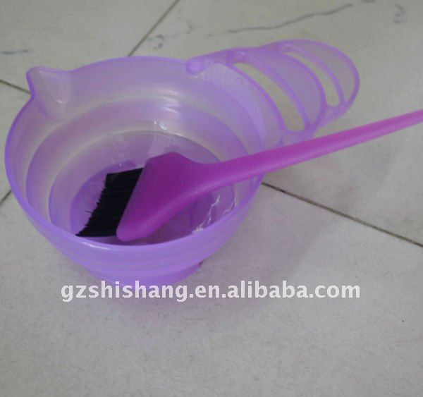 tinting bowl and brush, hair dye kit