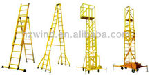 FRP aerial work platform GRP ladder with wheel