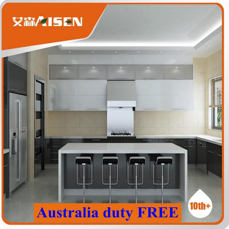 Flat Pack Kitchen Furniture/australian Two Pack Glossy