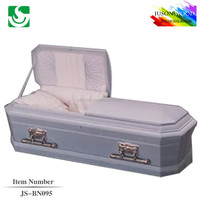 JS-BN095 good quality blue color caskets supplier
