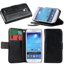 Folio flip diary style pu leather cover sleeve for samgsung i9500mini