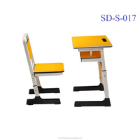 SD-S-017 Modern Design School Furniture Wooden Student Study Table And Chair Set