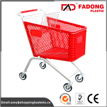 stair climbing folding plastic shopping cart with metal stand seat