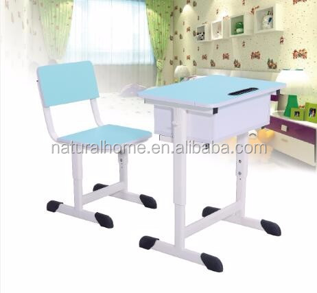 Student Single Study Table and Chair High Quality School Furniture