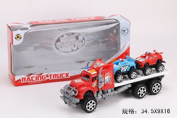 New cute super tow truck plastic inertial tow truck toy for sale
