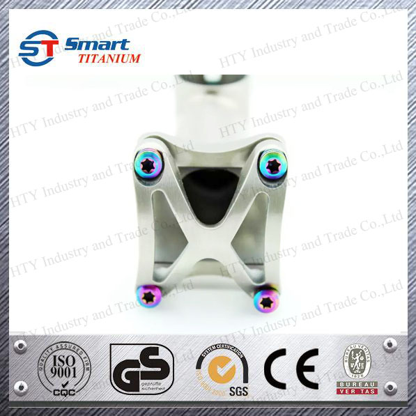 FREE SHIPPING bike accessory titanium stem 31.8*110 with coloful bolts in stock