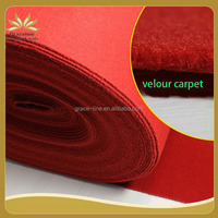 High quality 100% polyster velour exhibition carpet from trade assurance company