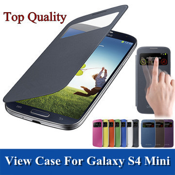 Smart window flip case for samsung galaxy S4mini S4 SIV Mini i9190 original leather cases back cover battery housing covers