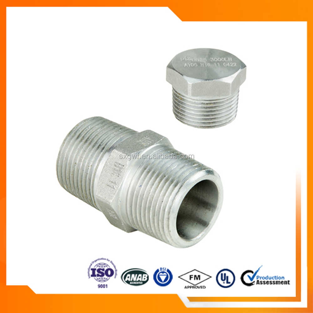 Good quality high pressure carbon steel forged pipe fittings nipple