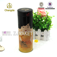 fashion design packaging round small metal tin box