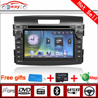Bway 2 din car video player for CR V 2012 car dvd player 256 MB RAM with car Radio bluetooth,steering wheel