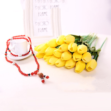 Artificial flower mini tulip flower artificial real touch tulip for wedding decroation