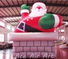 trade show ornament Inflatables Costume air Blow Up for Xmas, Funny Inflatable Christmas Santa Claus