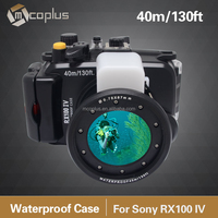Mcoplus 40M / 130ft Waterproof Underwater Camera Housing Diving Case for Sony DSC-RX100 IV RX100 M4 Mark 4