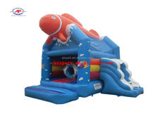 Top Fish Inflatable jumper bouncer / bouncy castle with slide for kids