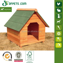 New Design Lean-to Roof Wooden Dog Kennel DFD002