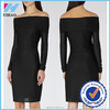 Yihao OEM factory 2015 2015 long sleeve off-shoulder short pencil splice dress party dress factory price