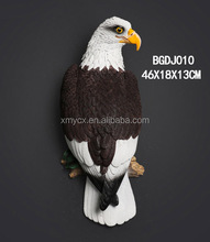 Polystyrene Animal Wall Decor Realistic Eagle Statue for Home