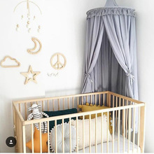 Baby Play <strong>Tents</strong> 2018 Winter new kids Mosquito Net kids Cotton Bed Compensation baby room decoration Round covered Bed with Teepe